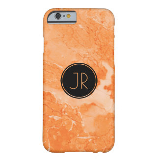 Coque iPhone 6 Barely There Beige simple et copie de marbre de texture de