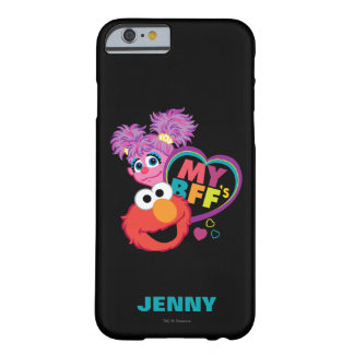Coque iPhone 6 Barely There BFF Abby et Elmo   ajoutent votre nom