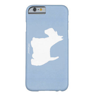 Coque iPhone 6 Barely There Bleu de Terrier d'écossais de Wedgewoof