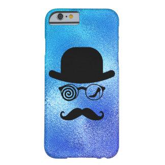 Coque iPhone 6 Barely There Bleu en verre de moustaches de coureur de jupons