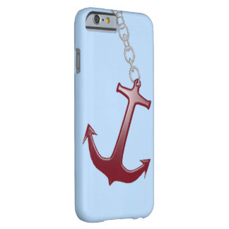 Coque iPhone 6 Barely There Bleu rouge d'ancre