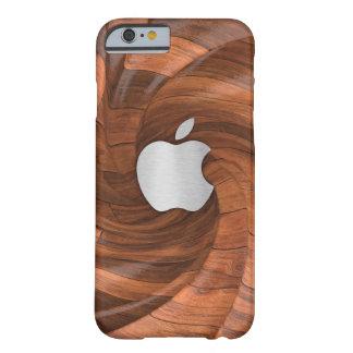 Coque iPhone 6 Barely There Bois naturel segmenté avec le boîtier en acier