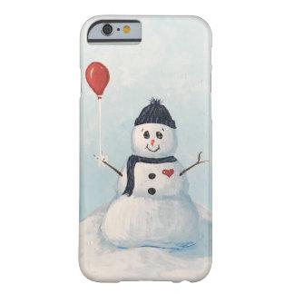 Coque iPhone 6 Barely There Bonhomme de neige avec un cas de téléphone de