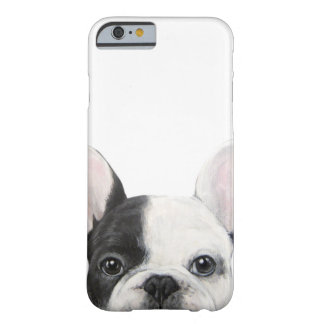 Coque iPhone 6 Barely There Bouledogue français. Peinture originale par le