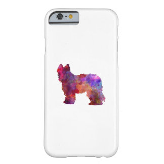 Coque iPhone 6 Barely There Briard in watercolor