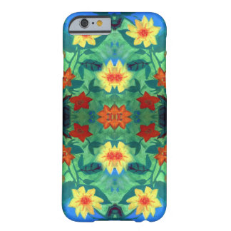 Coque iPhone 6 Barely There Caisse colorée des fleurs iPhone6/6s