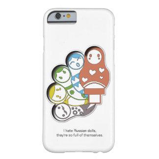 Coque iPhone 6 Barely There Caisse colorée russe de téléphone des poupées | |