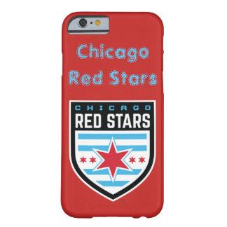 Coque iPhone 6 Barely There Caisse d'étoiles de rouge de Chicago