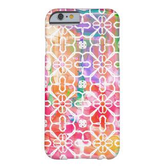 Coque iPhone 6 Barely There Caisse géométrique de cellules d'iPhone de fleurs