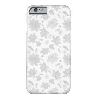 Coque iPhone 6 Barely There Caisse légère intéressante de fleurs d'aquarelle