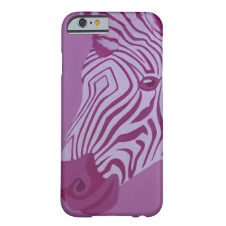 Coque iPhone 6 Barely There Caisse magenta de zèbre