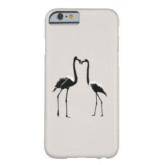 Coque iPhone 6 Barely There Caisse noire et blanche de téléphone d'amour de