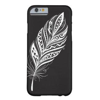 Coque iPhone 6 Barely There Caisse noire et blanche de téléphone portable de