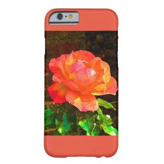 Coque iPhone 6 Barely There Caisse rose de l'iPhone 6 d'orange sentimentale