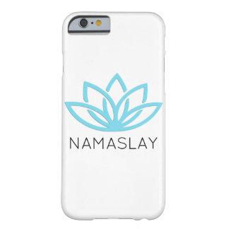 Coque iPhone 6 Barely There Caisse simple bleue de téléphone de NAMASLAY Lotus