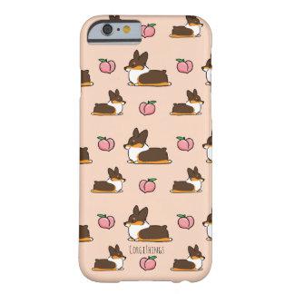 Coque iPhone 6 Barely There Caisse tricolore de téléphone de Sploot de corgi