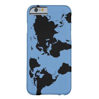 Coque iPhone 6 Barely There carte graphique noire du monde