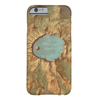 Coque iPhone 6 Barely There Carte vintage de l'Orégon de lac crater