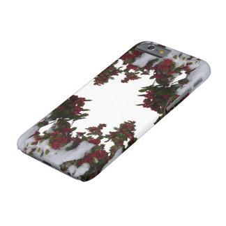 Coque iPhone 6 Barely There cas de l'iPhone 6/6S - houx et baies dans la neige