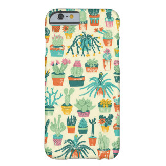 Coque iPhone 6 Barely There Cas de l'iPhone 6 de motif de fleur de cactus