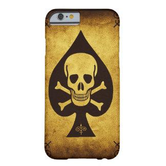 Coque iPhone 6 Barely There Cas de téléphone de crâne et de pelle à peine là