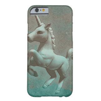 Coque iPhone 6 Barely There Cas de téléphone de licorne (acier turquoise)