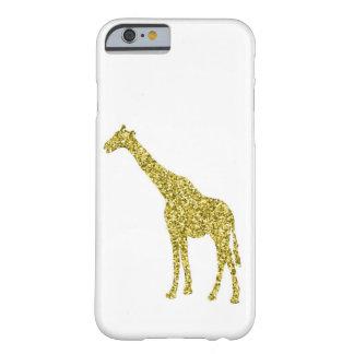 Coque iPhone 6 Barely There Cas d'IPhone 6 de girafe de scintillement