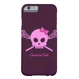 Coque iPhone 6 Barely There Cas fait sur commande de l'iPhone 6 de crâne rose