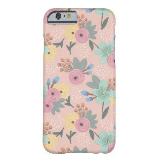 Coque iPhone 6 Barely There Cas floral de téléphone de rose de ressort orange