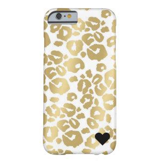 Coque iPhone 6 Barely There Cas métallique d'IPhone 6/6s de léopard