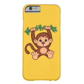 Coque iPhone 6 Barely There Cas mignon de l'iPhone 6 de singe de bande