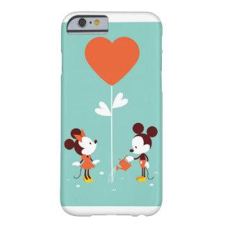 Coque iPhone 6 Barely There Cas mous d'amour d'espace libre d'aquarelle de