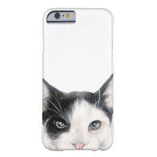 Coque iPhone 6 Barely There Chat noir et blanc