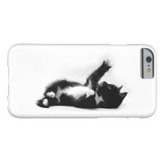 Coque iPhone 6 Barely There Chaton noir et blanc sur l'iPhone/cas de Samsung