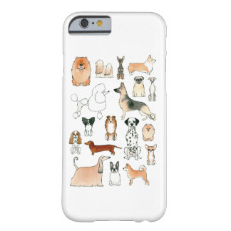 Coque iPhone 6 Barely There Chiens