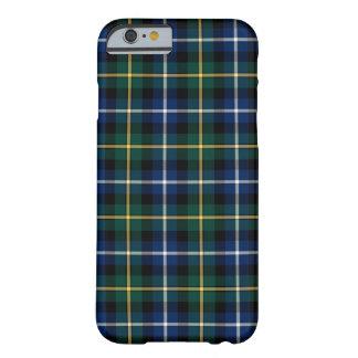 Coque iPhone 6 Barely There Clan MacNeil de tartan bleu et vert de Barra