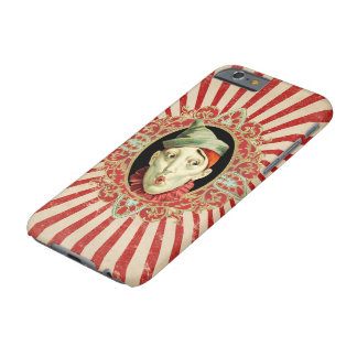 Coque iPhone 6 Barely There Clown de cirque vintage et bagout affligé de