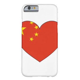 Coque iPhone 6 Barely There Coeur de drapeau de la Chine
