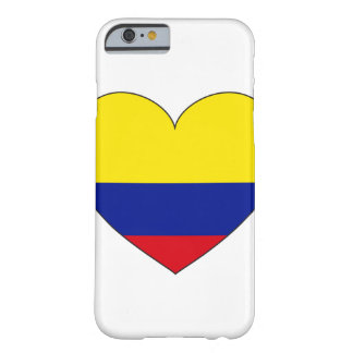 Coque iPhone 6 Barely There Coeur de drapeau de la Colombie