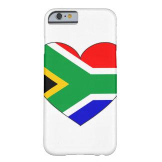 Coque iPhone 6 Barely There Coeur de drapeau de l'Afrique du Sud