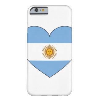 Coque iPhone 6 Barely There Coeur de drapeau de l'Argentine