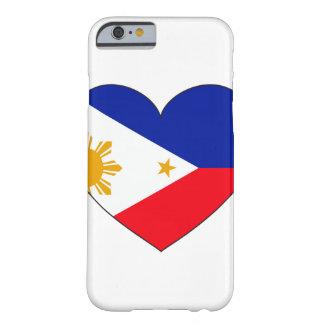 Coque iPhone 6 Barely There Coeur de drapeau de Philippines