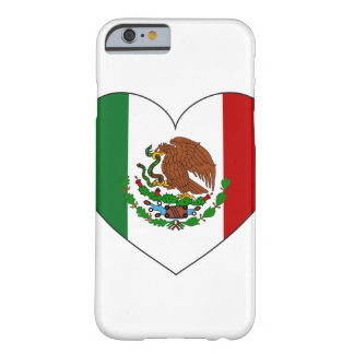 Coque iPhone 6 Barely There Coeur de drapeau du Mexique