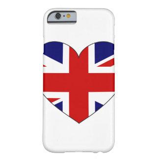 Coque iPhone 6 Barely There Coeur de drapeau du Royaume-Uni