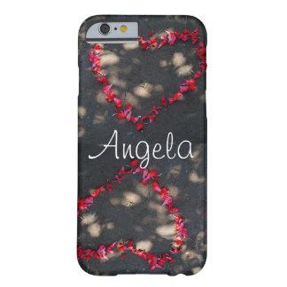 Coque iPhone 6 Barely There coeur fait par les roses rouges naturels, arrière