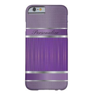 Coque iPhone 6 Barely There Conception élégante en métal d'améthyste et