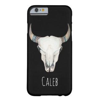 Coque iPhone 6 Barely There Coutume de Bohème rustique de crâne de vache à