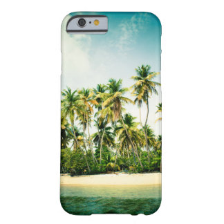 Coque iPhone 6 Barely There Couverture tropicale d'iPhone avec des palmiers