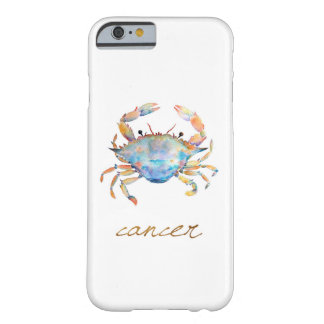 Coque iPhone 6 Barely There Crabe de Cancer d'aquarelle