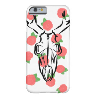 Coque iPhone 6 Barely There Crâne et roses